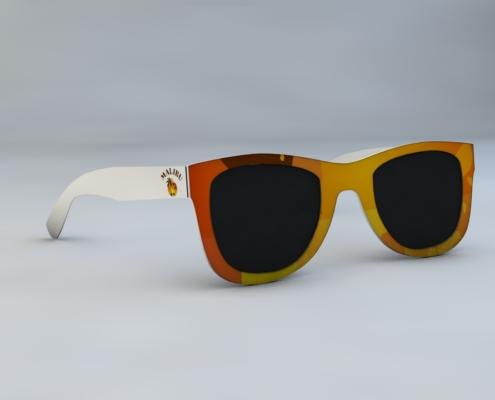 Sluneční brýle v kartě
