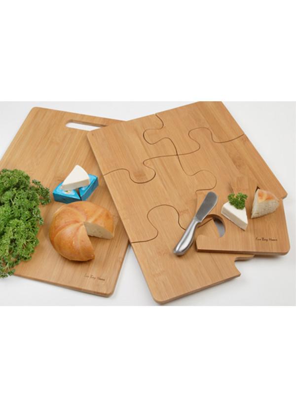 Reklamní kuchyňské prkénko ve tvaru PUZZLE