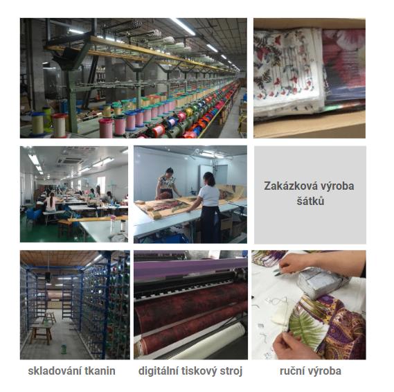 Výroba šátků