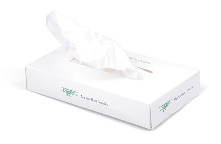 Reklamní papírové kapesníky v boxu