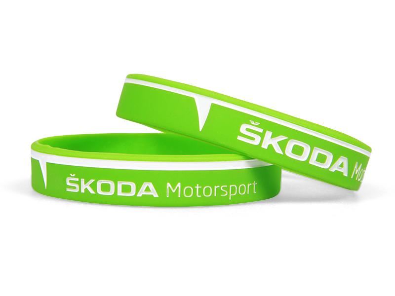 Silikonový náramek Škoda Motorsport deboss