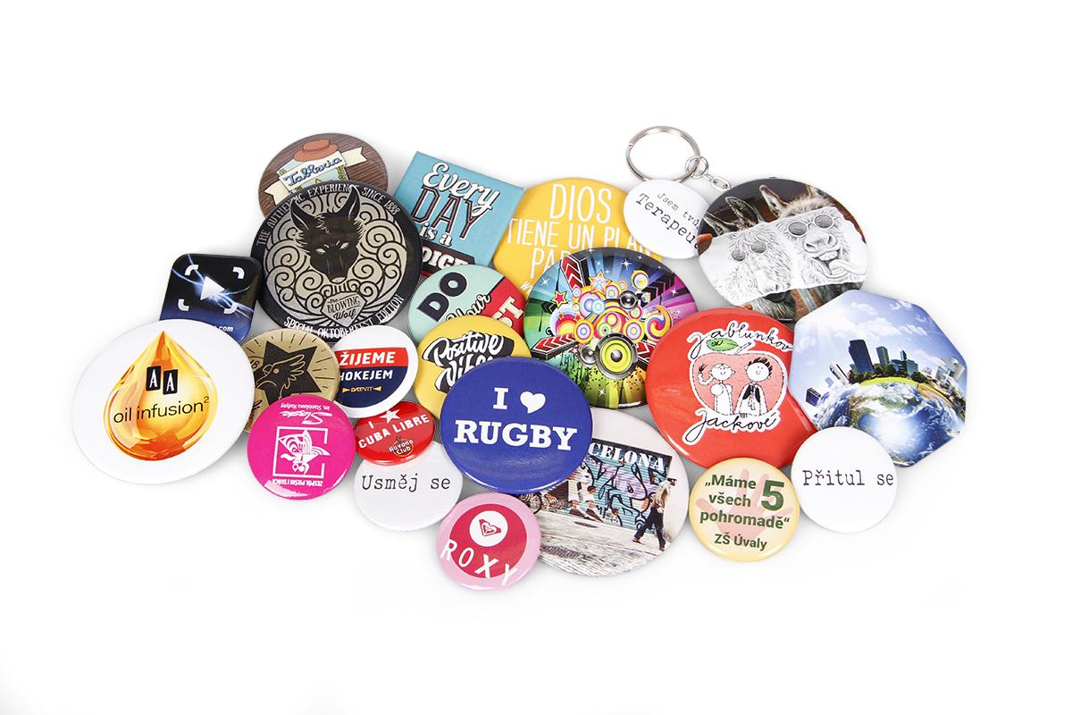 Reklamní buttony, odznaky a placky
