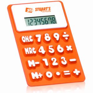 Reklamní silikonové kalkulačky