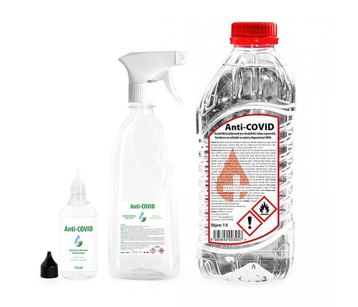 anticovid roztoky 115 ml, 500 ml a 1l