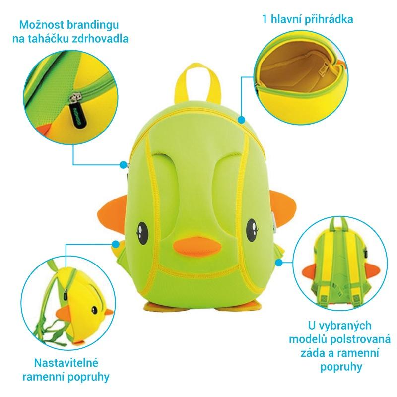 Neoprenové batohy ve vlastním tvaru